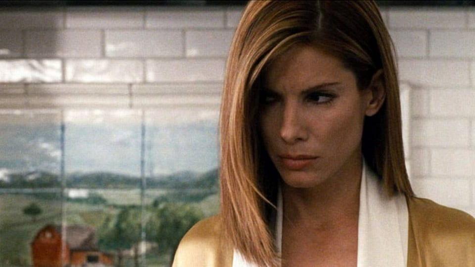 "Sandra Bullock em cena do filme ""Crash - No Limite"""